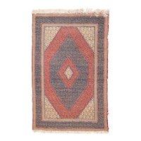 Antique Blue Turkish Tribal Area Rug Wool Circa 1890 SIZE: 2'10'' x 4'5''