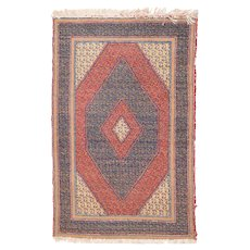 Antique Blue Turkish Tribal Area Rug Wool Circa 1890 SIZE: 2'10'' x 4'5''