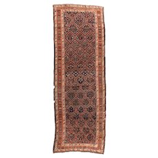 Fine Antique Persian Tribal Lori Runner Wool Circa 1890, SIZE: 4'7'' x 13'0''