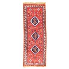 Fine Vintage Moroccan Tribal Rug Circa 1930, SIZE:3'7'' x 9'7''