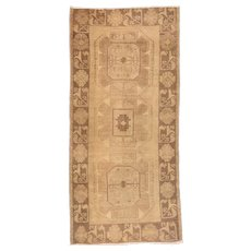 Hand Knotted Turkish Turkish Wool Circa 1920, SIZE: 3'1'' x 6'5''