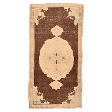 Hand Knotted Turkish Turkish Wool Circa 1920, SIZE: 3'5'' x 5'11''