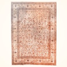 """Fine Rug Persian Tabriz Tabatabaie, Hand Knotted, Circa 1950's, Size 8'1"""" x 10'1"""""""