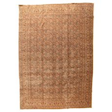 Fine Antique Persian Tabriz Hajjalili Wool on Cotton Circa 1890, SIZE 11' '' x 16'2''