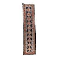 Hand Knotted Persian Karajeh Heriz Wool Circa 1900, SIZE: 2'10'' x 11'0''