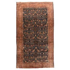 Antique Beige Persian Sarouk Area Rug Wool Circa 1890, SIZE: 10'2'' x 17'0''