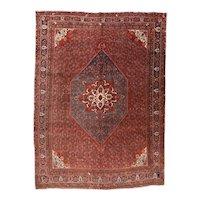 Hand Knotted Persian Bidjar Wool Circa 1920, SIZE: 9'1'' x 12'10''