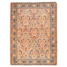 "Fine Antique Persian Afshar Tribal Rug Hand Knotted, Circa 1890, Size 3'5"" x 4'6"""