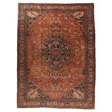 Antique Persian Farahan Sarouk Area Rug