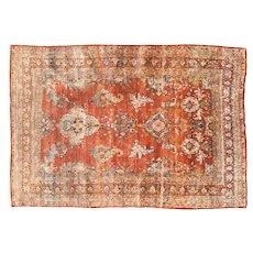 "Extremly Fine Rare Persian Antique Silk on Silk Heriz , Circa 1880,  Size: 4'5"" x 6'4"""