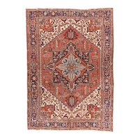 Excellent Persian Area Rug Wool Circa 1900, SIZE: 8'3'' x 11'6''