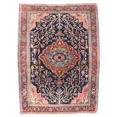 Antique Red Bidjar Halvaie Persian, Area Rug Wool on Wool Circa 1890, SIZE: 5'2'' x 7'0''