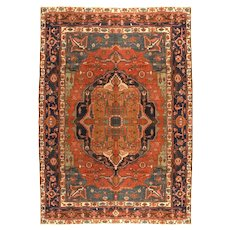 Antique Rug  Persian Bakshayesh, Hand Knotted, Circa 1880, Size 8'11 x 11'7