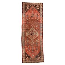 Fine Antique Persian Malayer 100% Wool Circa 1910, SIZE: 3'10'' x 11'0''