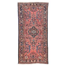 Fine Antique Persian Lilihan 100% Wool Circa 1920, SIZE: 2'8'' x 5'2''