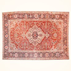 """Antique Persian Rug Serapi, Hand Knotted, Circa 1910, Size 8'9"""" x 13'"""