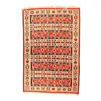 Extremely Fine Persian Antique Kilim Circa 1920, SIZE: 5'8'' x 8'7''