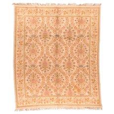 Fine Antique Spanish Cuenca Wool on Wool Circa 1920, SIZE: 10'10'' x 11'10''