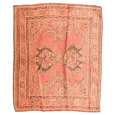 Fine Antique Turkish Oushak Rug Circa 1890, SIZE: 5'7'' x 6'6''