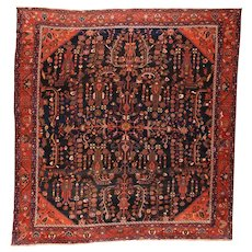 Hand Knotted Persian Bakhtiyari Wool Circa 1890, SIZE: 12'6'' x 14'11''