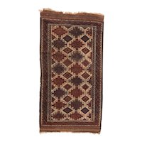 Excellent Persian Area Rug Wool Circa 1910, SIZE: 2'9'' x 5'2''