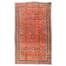 Antique Rust Fine Persian Lilihan Area Rug Circa 1910,  SIZE:12'0'' x 20'10''