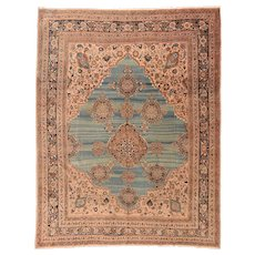 Hand Knotted Persian Tabriz Haji Jalili Wool Circa 1890, SIZE: 10'0'' x 12'9''