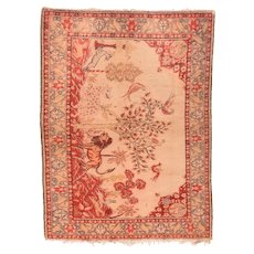 Semi Antique Persian Sivas Area Rug Wool Circa 1950, SIZE: 5'0'' x 7'3''