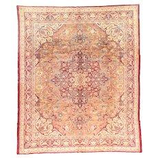 Fine Antique Agra Wool on Cotton Circa 1920, SIZE: 9'11'' x 11'8''