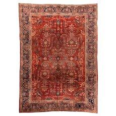 Hand Knotted Persian Farahan Sarouk Wool Circa 1890, SIZE:  8'8'' x 11'11''