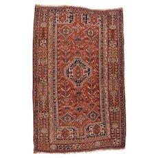 Fine Antique Persian Shiraz Tribal Circa 1920, SIZE: 4'9'' x 7'5''
