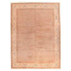 Excellent Rust Tabriz Persian Area Rug Silk & Wool Circa 1970, SIZE: 10'0'' x 12'9''