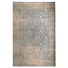 Extremly Fine Antique Persian Rug Tabriz , Hand Knotted, Wool on Cotton, Circa 1910, Size 8' x 11'2""