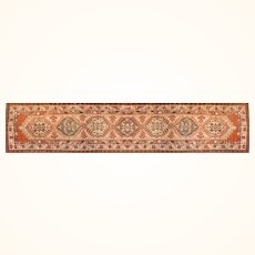 """Antique Rug Runner Persian Serab (Sarab) Hand Knotted, Circa 1910, Size 3'2"""" x 11'"""
