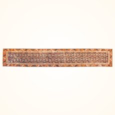 """Antique Rug Persian Runner North West Persia, Hand Knotted, Circa 1910, Size 2'11"""" x 13'6"""""""
