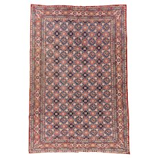 Hand Knotted Persian Veramin Wool Circa 1920, SIZE: 6'7'' x 9'10''