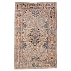 "Extremly Fine Antique Persian Mohtasham Kashan Hand Knotted Circa 1890, Size 4'4"" x 6'10"""