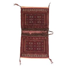 """Extremely Fine Antique Torkoman Persian Rug, Hand Knotted, Circa 1920, Size 1'6"""" x 1'6"""""""