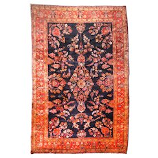 Extremley Fine Antique Persian Rug Sarouk Mohajeran, Hand Knotted , Circa 1920, Size 8'9' X 11'9''