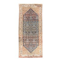 Antique Navy Malayer Persian Area Rug Wool  Circa 1920, SIZE: 5'3'' x 12'0''
