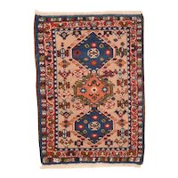 Excellent Persian Area Rug Wool Circa 1950, SIZE: 1'11'' x 2'11''