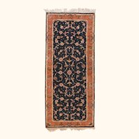 """Extremly Fine Vintage Persian Tabriz Runner Rug, Hand Knotted, Circa 1970's, Size 2'6"""" x 6'4"""""""