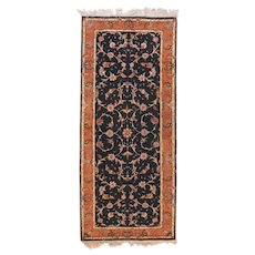 "Extremly Fine Vintage Persian Tabriz Runner Rug, Hand Knotted, Circa 1970's, Size 2'6"" x 6'4"""