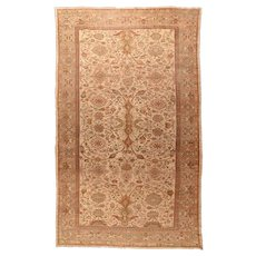 Antique Light Brown Persian Ziegler Mahal Area Rug Wool Circa 1880, SIZE: 9'9'' x 17'9''