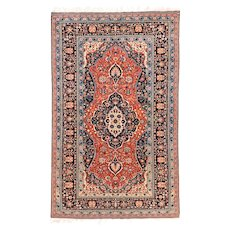 "Extremly Fine Antique Persian Rug  Mohtasham Kashan Hand Knotted Circa 1890, Size 4'7"" x 7'6"""