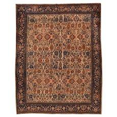 Hand Knotted Persian Farahan Sarouk Wool Circa 1890, SIZE:  8'11'' x 11'8''