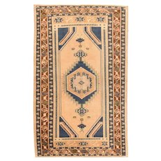 Antique Fine Turkish Oushak Area Rug Wool Circa 1900, SIZE: 4'8'' x 7'10''