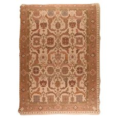 Vintage Beige Sumak Manchoria/Russian Area Rug Wool Circa 1970 SIZE: 10'0'' x 14'0''