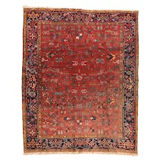 Fine Antique Persian Heriz Rug Circa 1920, SIZE: 8'0'' x 9'8''