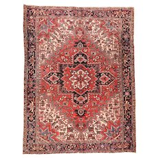 Fine Antique Persian Heriz Circa 1920, SIZE: 9'0'' x 11'10''